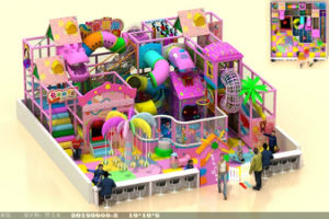 Candy Theme Pink Colorful Indoor Playground for Sale pictures & photos