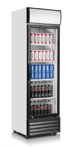 Single Door Upright Showcase Cooler with Ventilator Cooling System pictures & photos