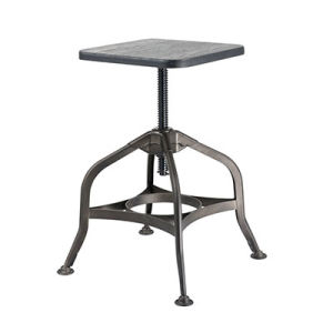 High Quanlity Antique Swivel Lift Metal Industrial Bar Stool (FS-Scew14037-2) pictures & photos
