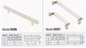 R206 Colorful Hardware Cupboard Handle pictures & photos