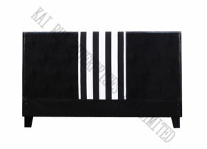 Black and White Stripe Leather Modern Hotel/Home Designed Bed Headboard