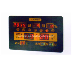 Electric LED Digital Time and Calendar Wall Clock with Korean Display pictures & photos