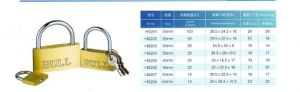 Hg201 Supper Thin Type Brass Padlock pictures & photos