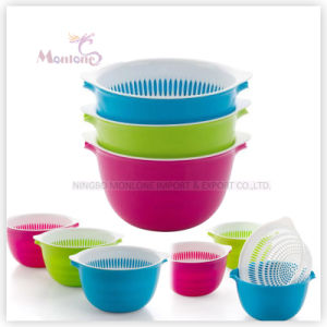 Kitchen Fruit/Vegetable Washing Drain Storage Basket Sink Plastic Colander pictures & photos