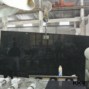Kingkonree 2cm and 3cm Caesarstone Mirror Black Quartz Slab pictures & photos