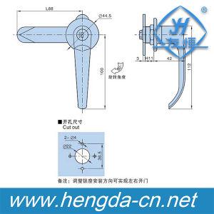 Yh9672 High Quality Furniture Handles Door Handle Lock Entry Safe Door Lock pictures & photos