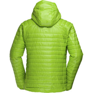 Primaloft 100g Insulated Men′s Hooded Quiltedjacket pictures & photos
