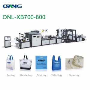 Automatic Nonwoven Bag Making Machine with Online Handle Sealing pictures & photos