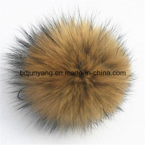 Wholesale Raccoon Fur POM Poms Keychains pictures & photos