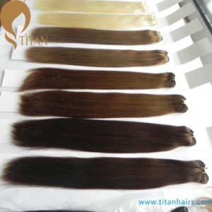 "12-28"" Straight Brazilian Virgin Human Hair Weft Hair pictures & photos"