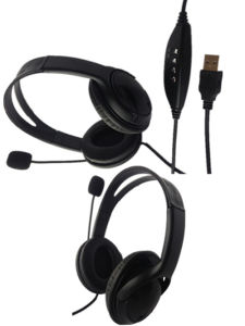 Gaming Headphone with Mircophone with USB Call Center Connector pictures & photos