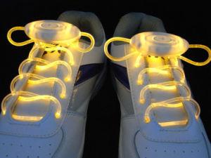Fancy Flashing Shoelaces Ultra-Brightness LED Nylon Shoe Laces pictures & photos
