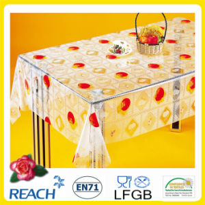 PVC Printed Transparent Table Cover in Roll pictures & photos