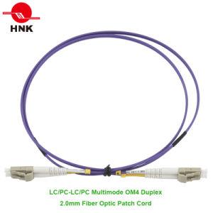 LC/Sc/FC/St PC/Upc/APC Simplex Duplex Multimode 50 Om4 Fiber Optic Patch Cord pictures & photos