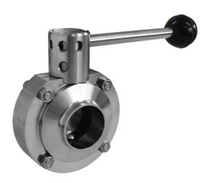 Stainless Steel Sanitary Welded Butterfly Valve pictures & photos
