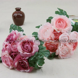 Elegant Ranunculus Bouquet Artificial Flower Used for Decoration (SF14666) pictures & photos