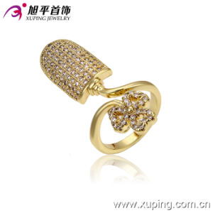 13303 Fashion Women Luxury 14k Gold-Plated Imitation Jewelry Finger Ring in Copper Alloy pictures & photos