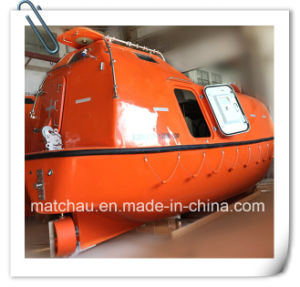 Lifeboat with Davit Tempsc Marine Totally Enclosed Life Boat pictures & photos