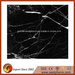 Popular Black Marquina Marble Tile for Bathroom Wall/Flooring Tile pictures & photos