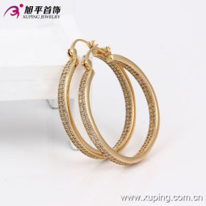 Fashion Xuping Luxury Gold-Plated Zircon Jewelry Earring Hoops - 90313 pictures & photos