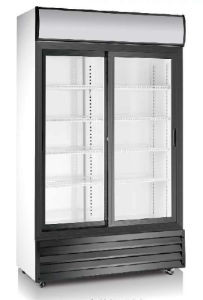 Two Doors Upright Showcase Cooler with Ce Approved pictures & photos