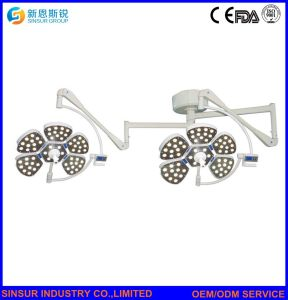 Qualified LED Double Dome Ceiling Shadowless Operating Surgical Lamp pictures & photos