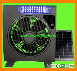 DC 12V Electric Rechargeable Solar Table Fan with Lighting pictures & photos