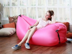 2016 Hot Sale Lamzes Hangout Fast Inflatable Nylon Air Sleep Bag Bed Beach Camping Sofa Outdoor Lazy Chair