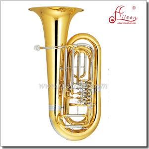 3/4 Bb Key Lacquer Finish Yellow Brass Piston Tuba (TU500G) pictures & photos
