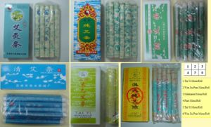 Moxa Roll or Moxibustion Therapy 10 Rolls/Box pictures & photos