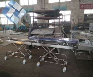 Stainless Steel Medical Bed Hospital Patient Transfer Bed pictures & photos