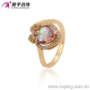Top Quality Xuping Fashion Colorful Crystal Apple Shapeped Jewelry Ring pictures & photos