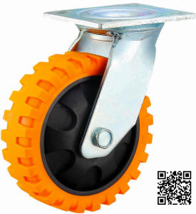 4/5/6/8 Inch Heavy Duty PU Swivel Caster with Tyre Veins pictures & photos