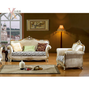 Antique Fabric Sofa Set with Carved Pattern (NCS37) pictures & photos