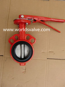 150lb Wafer Butterfly Valve in Red Color