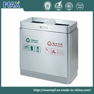 Station Dual Stainless Steel Waste Bins pictures & photos