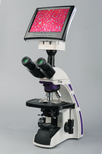 1600X Microscope LCD Biological, LED Lamp pictures & photos