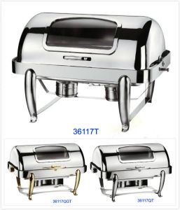 Full Size Chafing Dish Set with See-Through Window (36117T/36117QT/36117QGT) pictures & photos