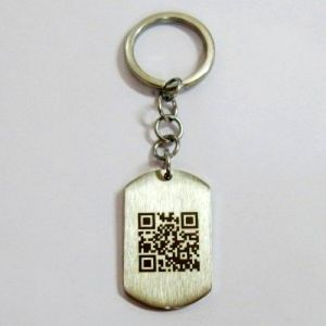 Company Name Logo Qr Code High Quality Metal Keychain pictures & photos