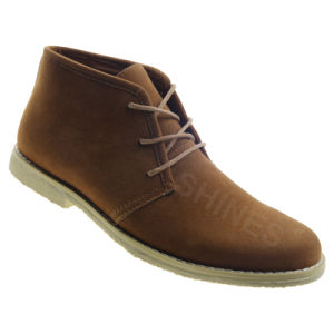 Plain Brown High Top Casual Street Walking Shoe for Mens