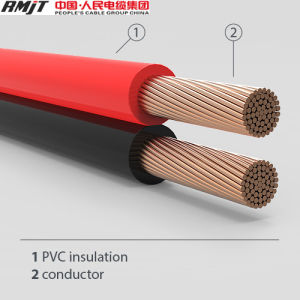 CCA or Copper Conductor PVC Insulation Twin Parallel Cable pictures & photos