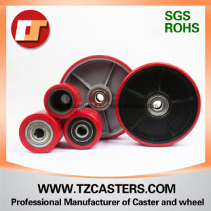 Polyurethane Wheel with Cast Iron with Ribs, Pallet Truck Wheel pictures & photos