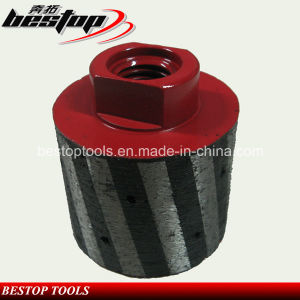 """5/8""""-11 Threaded Resin Filled Diamond Drum Wheels for Grinding Stone pictures & photos"""