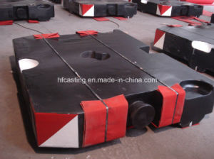 Gray Iron Crane Counter Weight for Terex pictures & photos