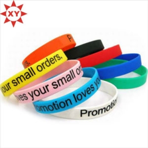 Colorful Silicon Wristbands Print Logo with Black Writing pictures & photos