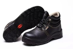 Industrial Working Strong and Professional PU/Leather Outsole Safety Shoes pictures & photos