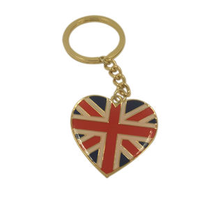 Souvenir Gifts Customized UK Flag Epoxy Metal Keychain pictures & photos