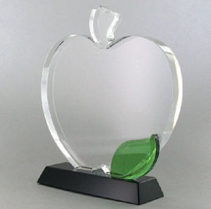 Apple Shape Optical Crystal Craft, Includes Personalization pictures & photos