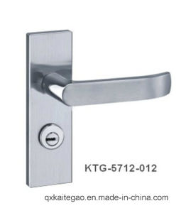 (KTG-5712-012) 304 Stainless Steel Hollow Safe Door Handle on Plate pictures & photos