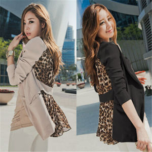 2015 Fashion Chiffon Sexy Leopard Women Leisure Suits (50021) pictures & photos